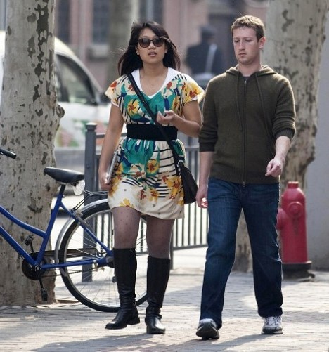 Priscilla Chan and Mark Zuckerberg Walking Together